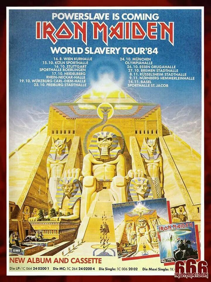 World Slavery Tour Janeiro 1985 RJ/Brasil