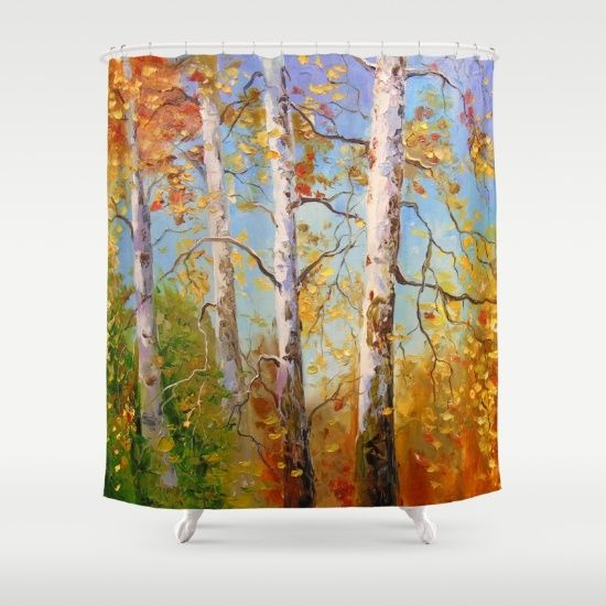 Autumn birches Shower Curtain by OLHADARCHUK on Society6 @society6 #society6 #shower #curtain #autumn #trees #leaf #leaves #tree #color #orange #yellow #products #design #shop #shopping #buy #sale #fun #gift #idea #accessory #accessories #home #decor #style #fashion #art #digital #contemporary #cool #hip #awesome #awesomeness #chic #fashion #style #print #wall #homedecor #sweet