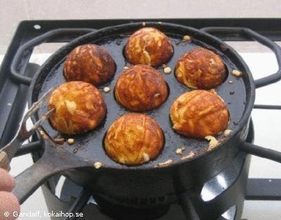 Danska æbleskivor, pankaksbollar typ-måste provas
