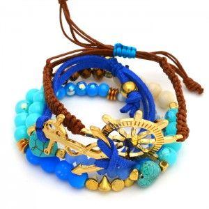 Pulsera Marino Ancla  Compra tus accesorios desde la comodidad de tu casa u oficina en www.dulceencanto.com #accesorios #accessories #aretes #earrings #collares #necklaces #pulseras #bracelets #bolsos #bags #bisuteria #jewelry #medellin #colombia #moda #fashion