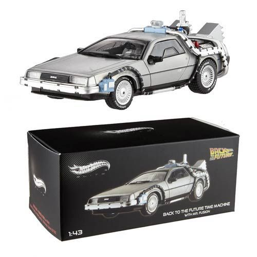BTTF DeLorean w/ Mr. Fusion Hot Wheels Elite 1:43 Scale - Mattel - Back to the Future - Vehicles: Die-Cast at Entertainment Earth http://www.entertainmentearth.com/prodinfo.asp?number=MTBCK08&id=TO-603025911