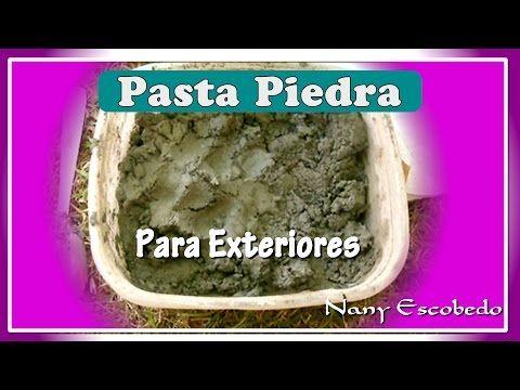 CÓMO HACER PASTA PIEDRA PARA EXTERIORES - YouTube