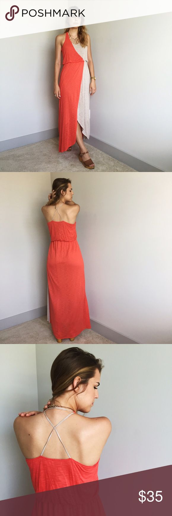 Anthropologie Coral Maxi Dress Anthropologie Coral Maxi Dress is the summer dress you have been searching for. Effortless cool for any event. Anthropologie Dresses Maxi