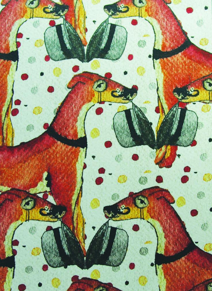 Pattern by RMIT University Textile Design student, Jazmine Bradley.