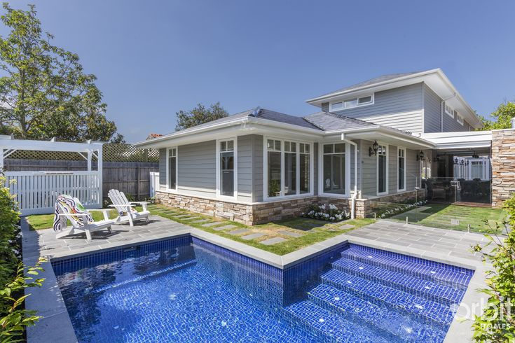17 best images about custom design hamptons style home for Pool design hamptons