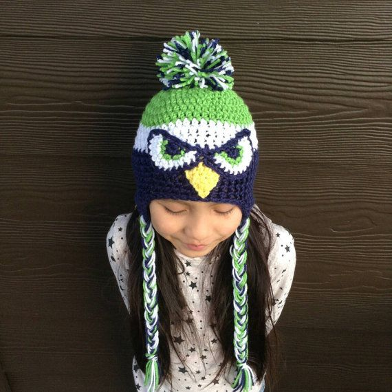Seahawks Hat Seahawks Beanie  Seahawks Kids by herflyingelephant