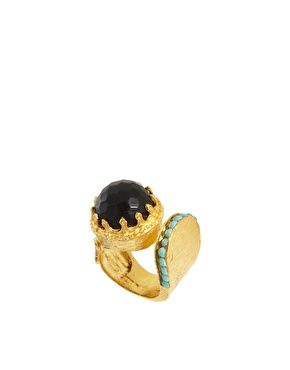 Ottoman Hands Stone Wrap Ring