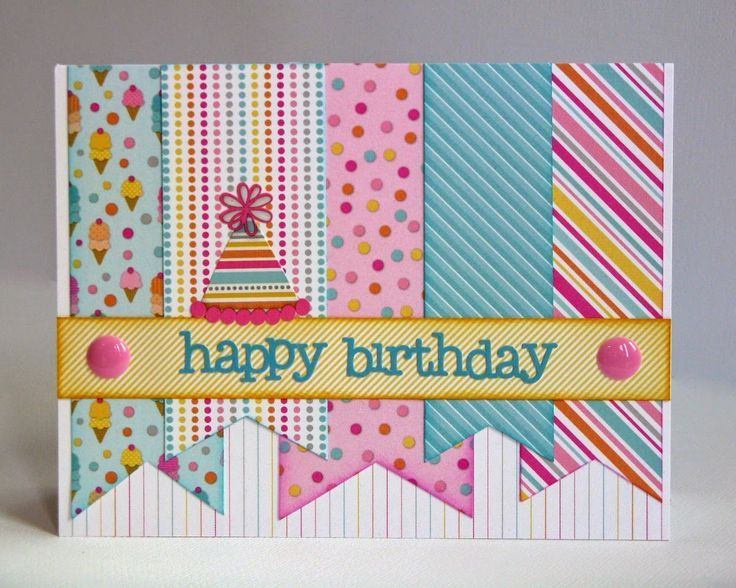 Snippets By Mendi: Doodlebug Designs Sugar Shoppe Birthday Pennant Card.