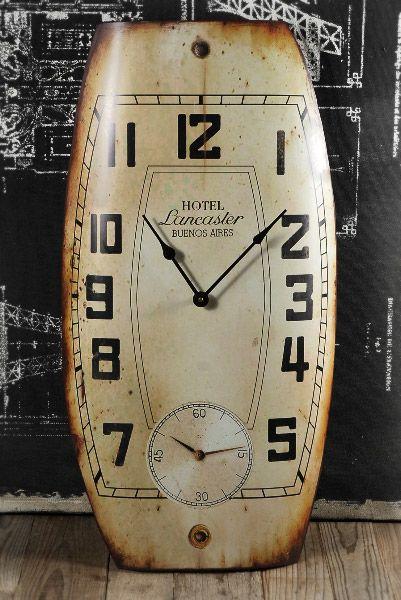 Large Vintage Metal Wall Clock 28in - oh man!