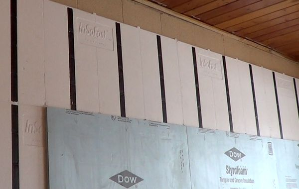 Dow S Blue Board Attached Over Top Insofast Ux 2 0 Panels