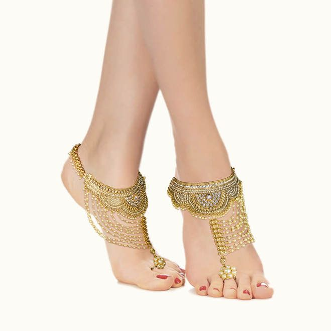 Stunning Gold Plated Anklets2049