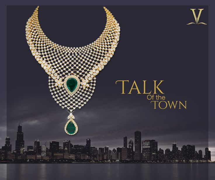 Designed to make you the splendour of every gala, this artistic and enchanting emerald sautoir.  #TalkOfTheTown