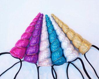 Unicorn Horn Headband Sparkle Costume You Choose the Color Photo Prop Halloween