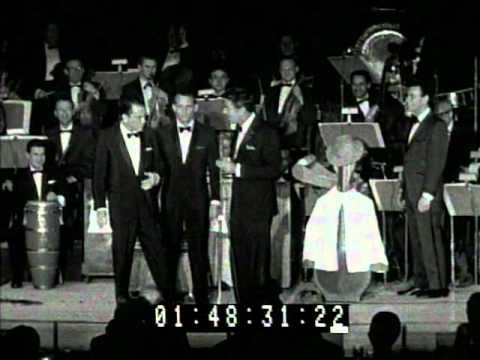 Frank Sinatra Joey Bishop & Peter Lawford at the 1960 Sands Summit