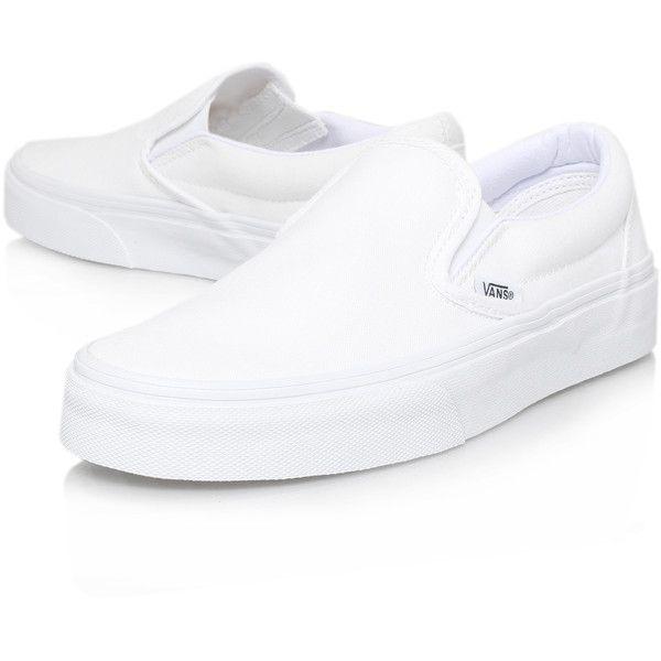 Slip On Vans White (210 BRL) ❤ liked on Polyvore