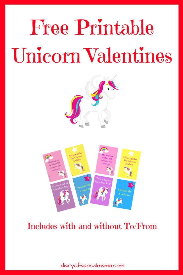 image about Free Printable Unicorn Valentines identified as Free of charge Printable Unicorn Valentines #MomBloggers Unicorn