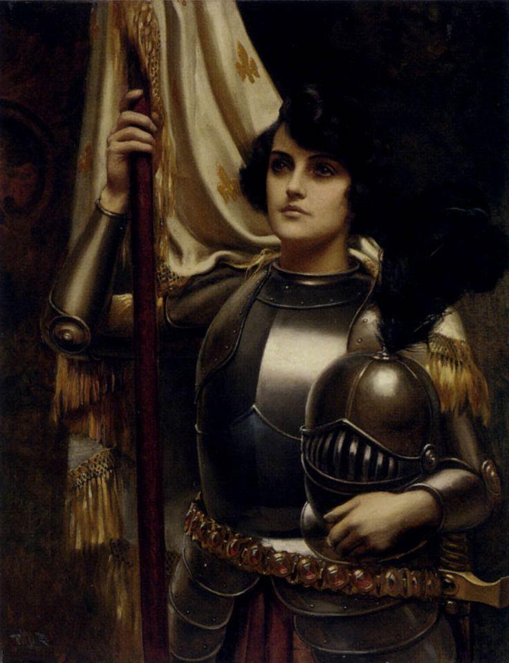 joan of arc holding her banner, harold hume piffard, ca. 1895-1899