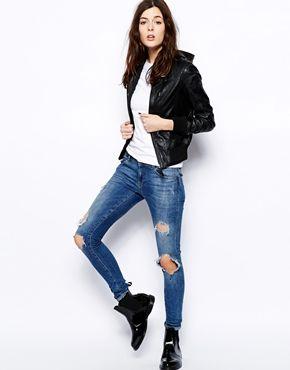 Enlarge Barneys Sonia Hooded Leather Bomber Jacket