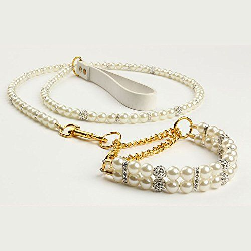 Best price on Blingbling Pets dog cat pearls collar leash set dogs walking necklace lead // See details here: http://healthlypetshub.com/product/blingbling-pets-dog-cat-pearls-collar-leash-set-dogs-walking-necklace-lead/ // Truly a bargain for the inexpensive Blingbling Pets dog cat pearls collar leash set dogs walking necklace lead // Check out at this low cost item, read buyers' comments on Blingbling Pets dog cat pearls collar leash set dogs walking necklace lead, and buy it online not…