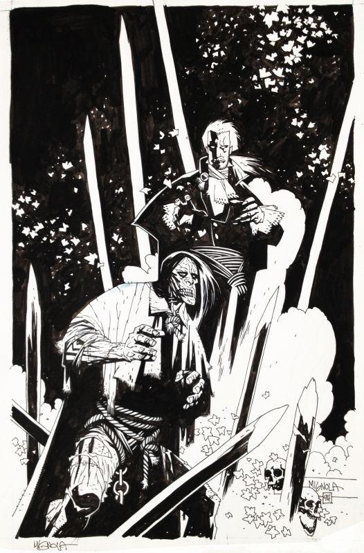 The Frankenstein Dracula War  1 par Mike Mignola - Couverture originale