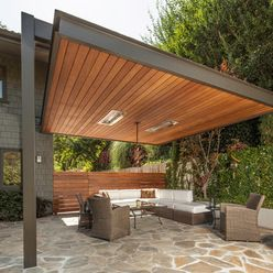 Large Cantilever Patio Cover | BBQ Area Ideas | Pinterest | Patios,  Pergolas And Outdoor Living