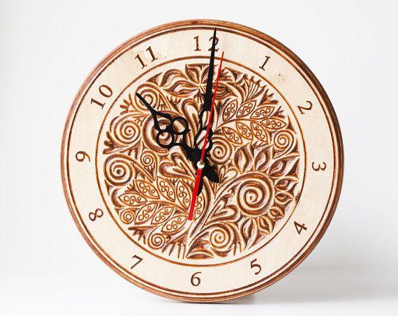 Часы подарок из дерева деревянный интерьер дизайн дом от TreeSky
