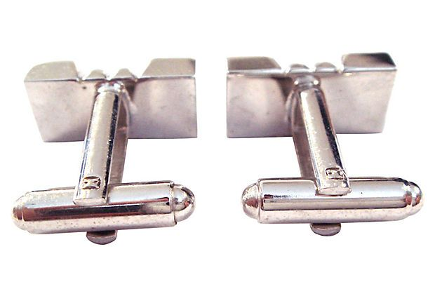 Silvertone Industrial Coil Cuff Links | Southern Accent | One Kings Lane