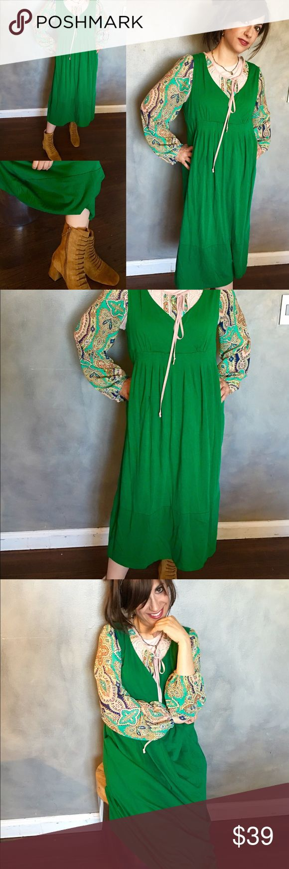 """HOST Pick Loft green midi dress Host Pick 🌷🍃🌷🍃🌷A beautiful casual loft midi dress. Like new with no faults. Worn very few times in perfect condition. I live it but it's too big on me now. 43"""" in length from shoulder. Size L. Feels very soft. LOFT Dresses Midi"""