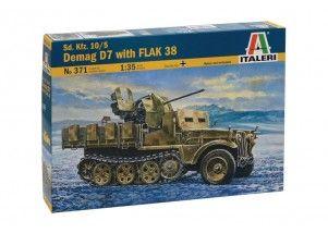 Sd. Kfz.10/5 Demag D7 with FLAK 38 scala 1:35