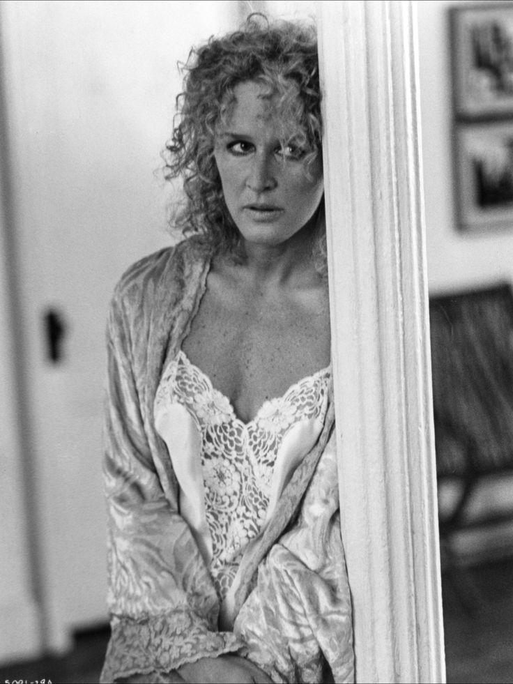 Glenn Close in Fatal Attraction.  Not a woman you want to become involved with...physically or emotionally.  BAD NEWS!