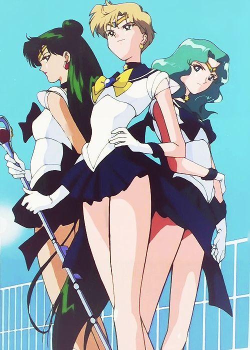 Sailor Neptune, Sailor Pluto and Sailor Uranus