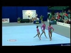 Crazy 3-person Russian gymnastics routine. Are they even human??