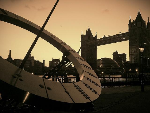 Tower Bridge from St Katherine's Dock