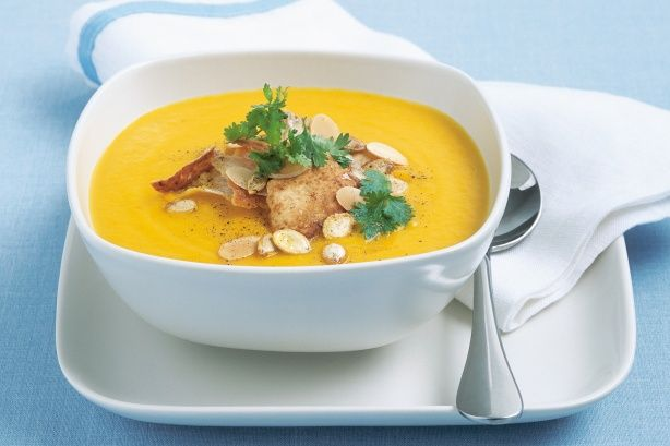 """Take an Australian classic like pumpkin soup, add a Moroccan twist and make this """"souper"""" meal which is vegan friendly."""