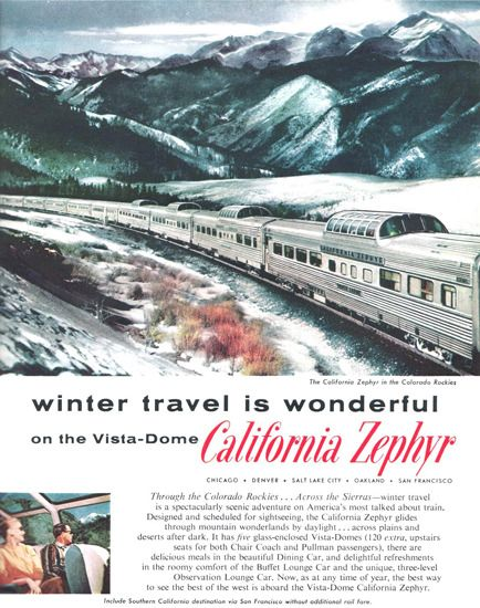 Western Pacific California Zephyr Dome 1958 - www.MadMenArt.com features over…