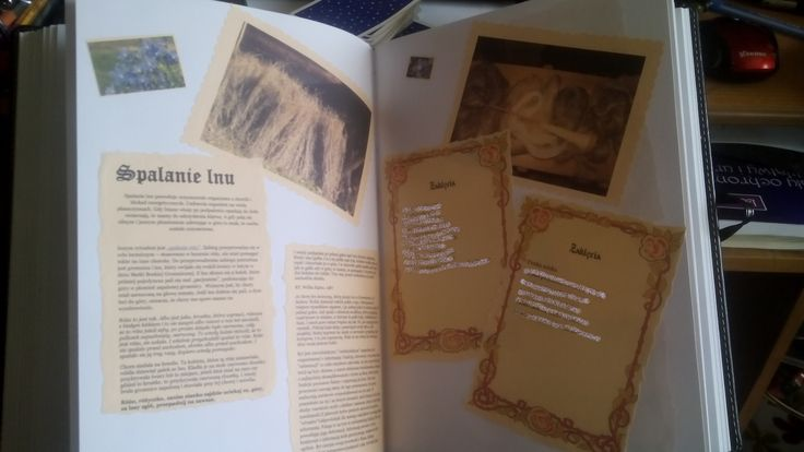 Księga Cieni Book of Shadows, Grimmuar. Karta tutaj traktująca o spalaniu lnu