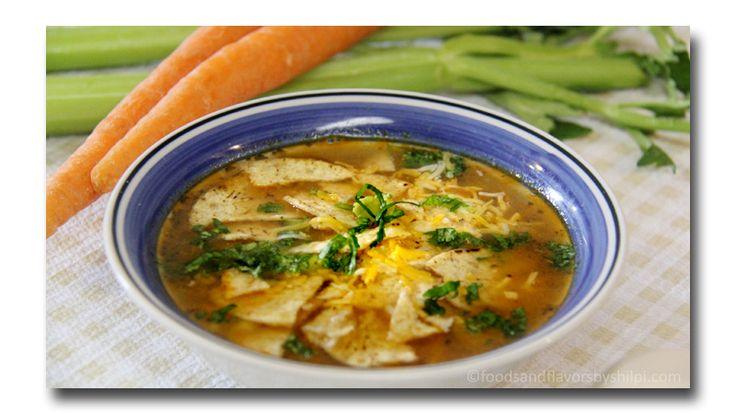 Vegetarian Tortilla Soup Recipe Video   Quick Vegetable Soup Recipe