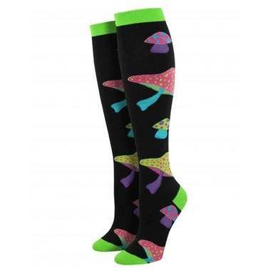 Psychedelic Shrooms Knee High Socks / Women's