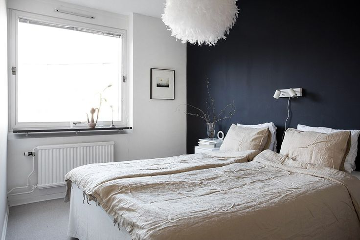 Bedroom (Scandinavian style bed making:  2 twin-sized duvets folded in half and laid side-by-side on the bed. No flat sheet) | cocolapinedesign.com