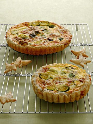 Quiche with bacon and brussel sprouts - Quiche con pancetta e cavoletti di Bruxelles