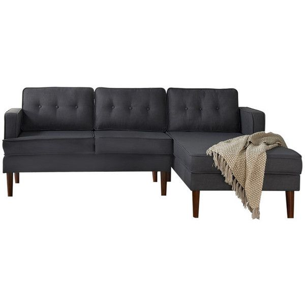 Danbury Sectional Sofa, Gray - Midcentury - Sectional Sofas - by DG... ❤ liked on Polyvore featuring home, furniture, sofas, mid century sectional, mid-century modern furniture, midcentury modern sofa, mid-century sofa and mid century modern couch