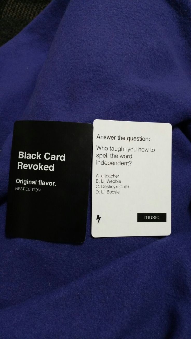 black card revoked questions free online