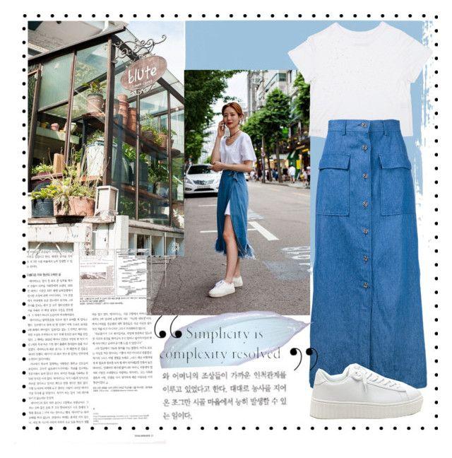 """#koreastyle #simple #fashion #polyvore #southkorea"" by vikapranika on Polyvore featuring CITYSHOP"