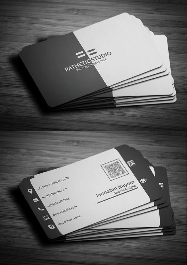 Corporate Black Business Card #businesscards #businesscardtemplates #custombusinesscards