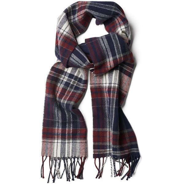 Gant Check Lambswool Scarf - Purple Fig found on Polyvore featuring accessories, scarves, multi, checkered scarves, purple scarves, purple shawl and gant