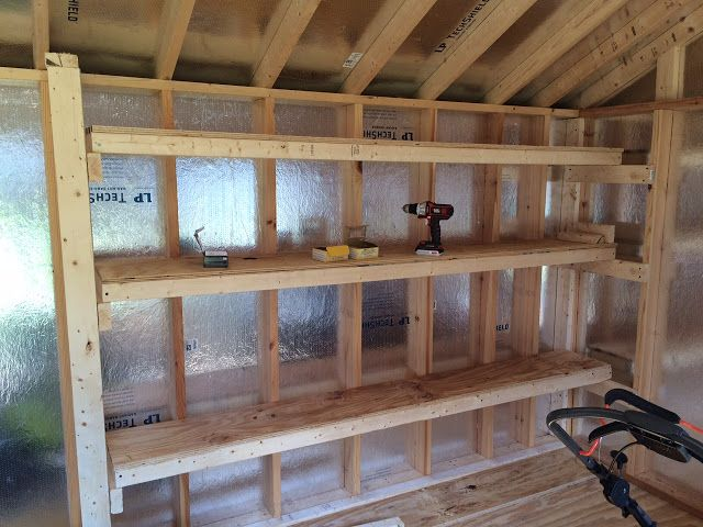 Diy Storage Shelving For Our Shed Sheds Shed Shelving