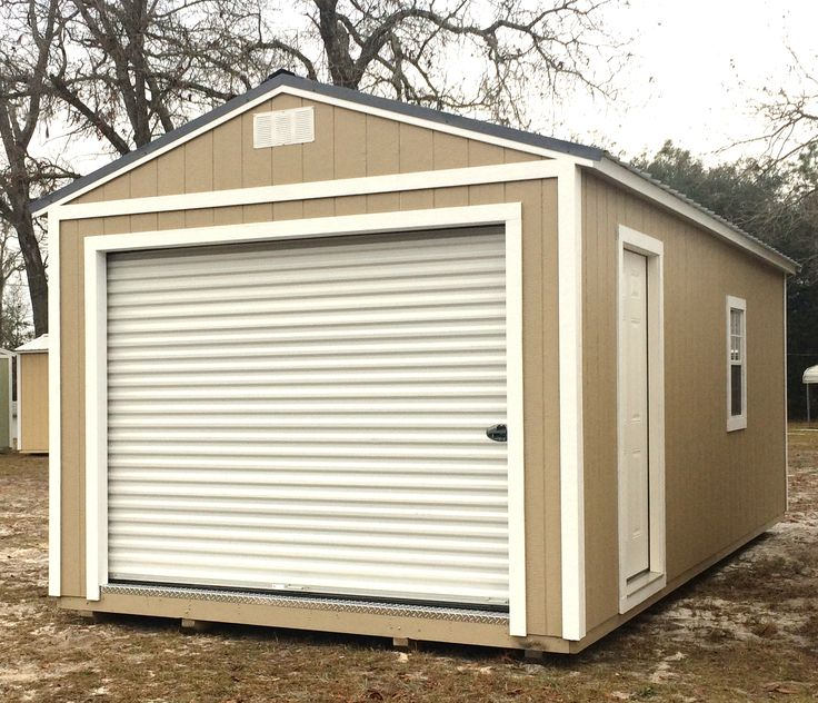 Coastal Portable Buildings Garage 12x24 In SW Taupe Coastalportablebuildings Bigboytoystorage