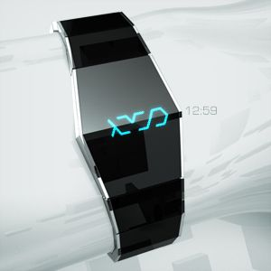 Xtal LED/LCD watch reveals the mystery with a touch.