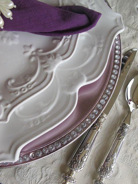 Purple Chocolat Home: My Birthday Table - Purple Elegance