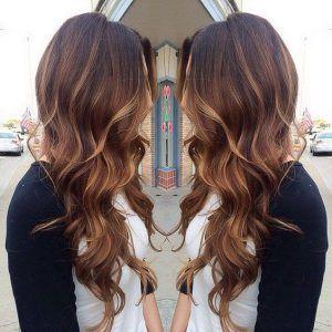 Cute Brown Hair with Caramel Highlights